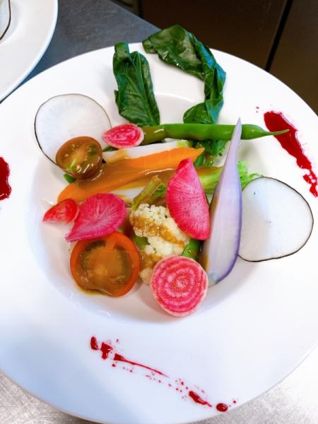 有機野菜の一皿